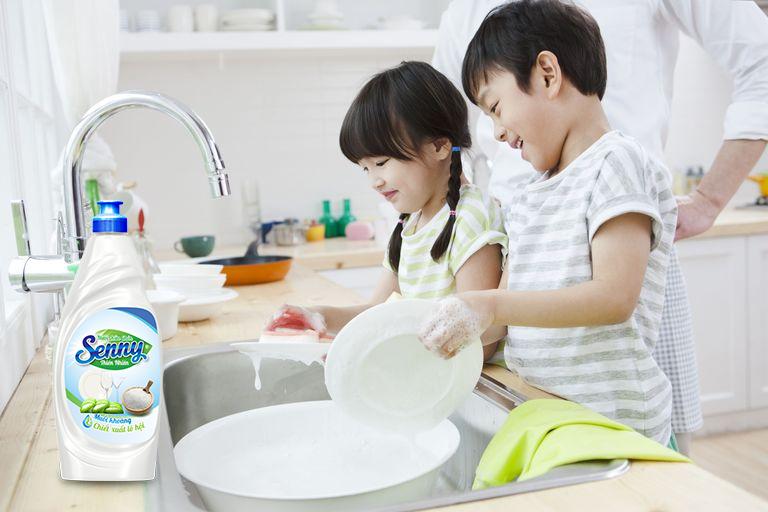 nước rửa chén senny